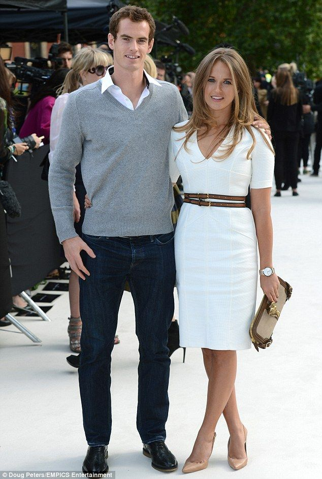 Andy Murray and girlfriend Kim Sears.  Kim's hair is out of this world.