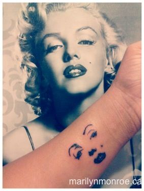 Marilyn Monroe Tattoo: @Danielle Gammell I could totally see you with this!