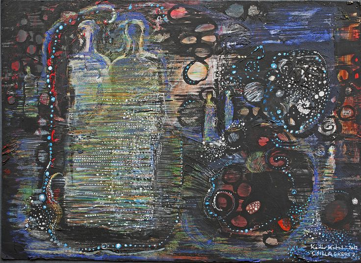 In the garden of stars, In the court of lights on BehanceStargarden 2. / Csillagkert 2. 25x35 cm, cardboard, mixd-technique, 2012.