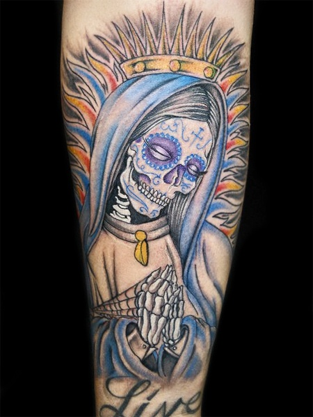 Santa muerte images pictures to pin on pinterest tattooskid - Santa muerte signification ...