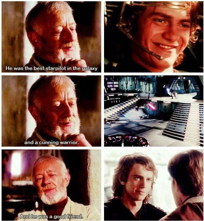 Obi Wan Kenobi. wow he gives him way to many pionts!