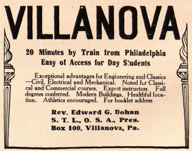 best villanova university images villanova  advertisement for villanova university 1915