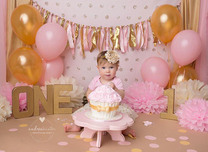 Girl cake smash set up idea