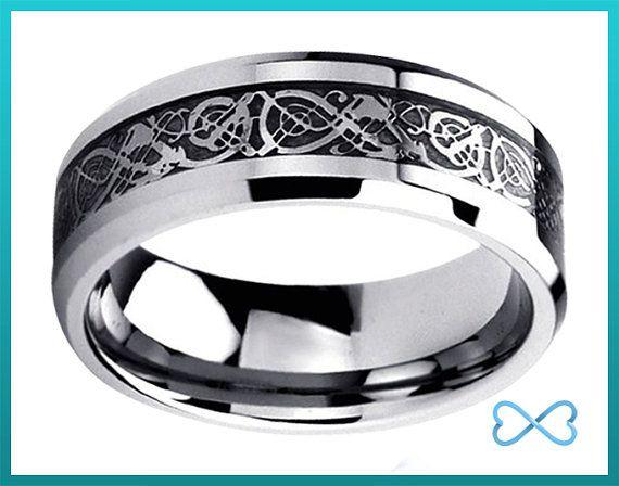 Titanium Wedding BandMens Wedding by InfiniteBands on Etsy