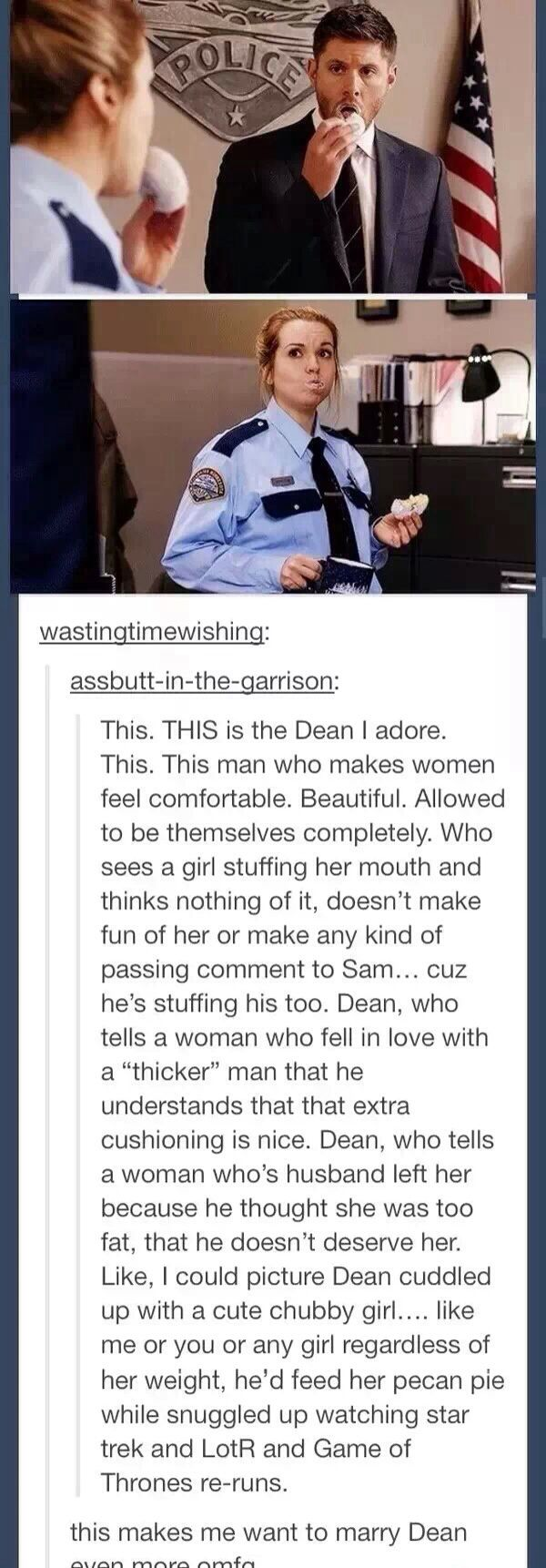 Dean Winchester- stop it Supernatural posts ....