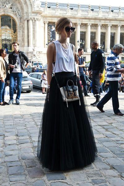 The 25 Best Street Style Snaps From Paris Fashion Week: Chiara Ferragni rocks Black Swan chic.