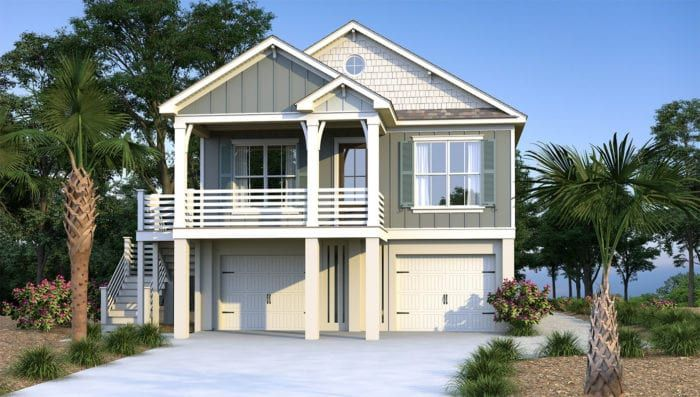 Abalina Beach Cottage Coastal House Plans From Coastal Home Plans Coastal House Plans Beach Cottage Design Beach House Plans