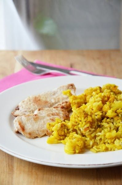 Indiai karfiolos rizs sült csirkemellfilével