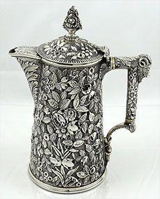 Bailey & Co philadelphia sterling repousse chocolate pot