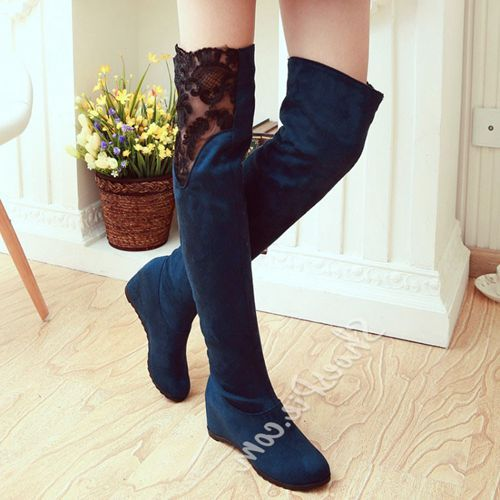 Beste Online Shoespie Veter Diverse Dij Hoge Laarzen