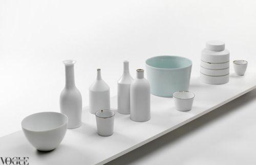 ceramics: White Kitchen, Porcelain Vessels, Enamel Wares, Helen Gory, Gory Galerie, Kirsten Coelho, Ceramics, Ceramicist Kirsten