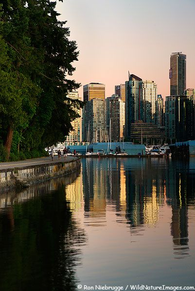 Vancouver from Stanley Park, British Columbia, Canada.