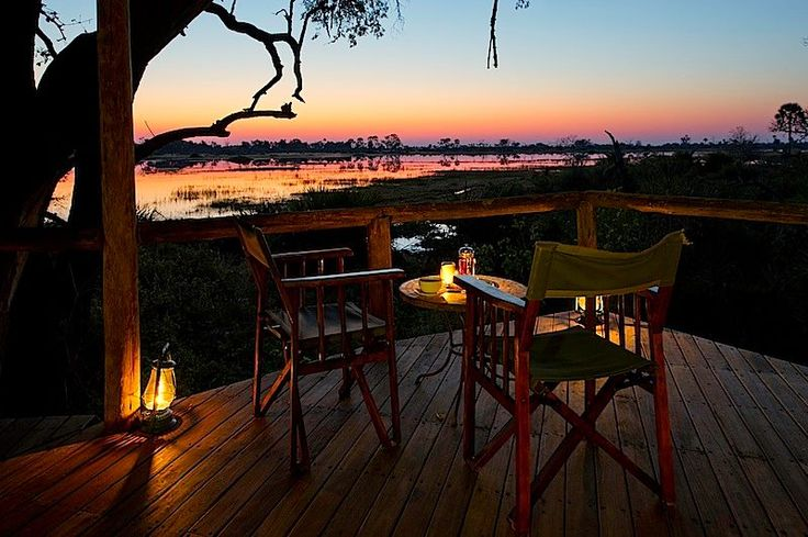 Is the glass half full or half empty; is this sunrise or sunset at Xigera Camp smack in the middle of the Okavango Delta. Xigera is one of the oldest camps in the Delta and, no matter whether it's the start or the end of the day, every day there is another perfect day in Africa! #OkavangoDelta #Safari #Africa #Botswana #WildernessSafaris http://on.fb.me/1ayN2RX