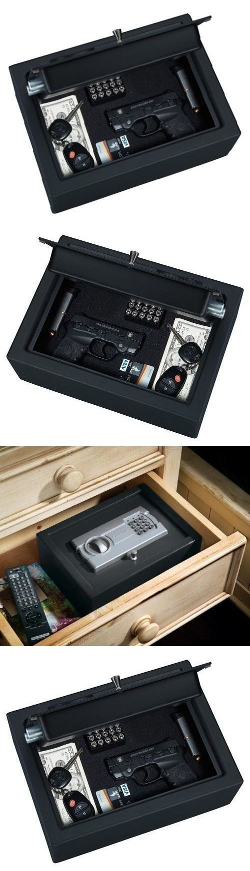 Cabinets and Safes 177877: Hand Gun Safe Pistol Vault Box Lock Handgun Storage Safes Cabinet Home Security BUY IT NOW ONLY: $49.75