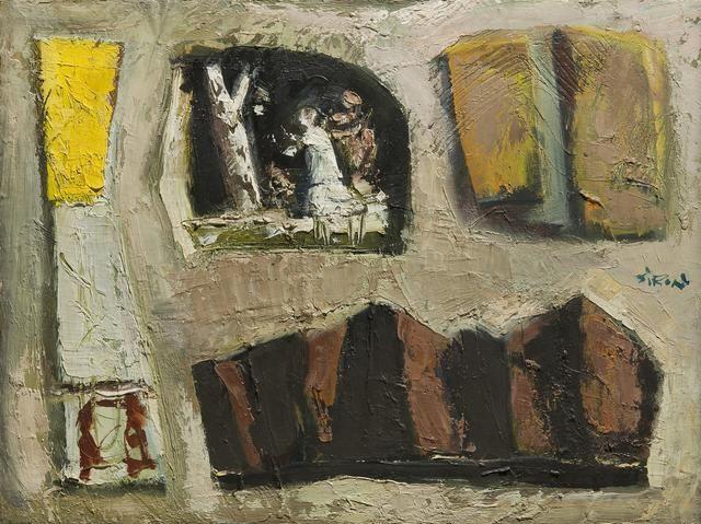 Mario Sironi (Italian, 1885-1961) Composizione con montagne