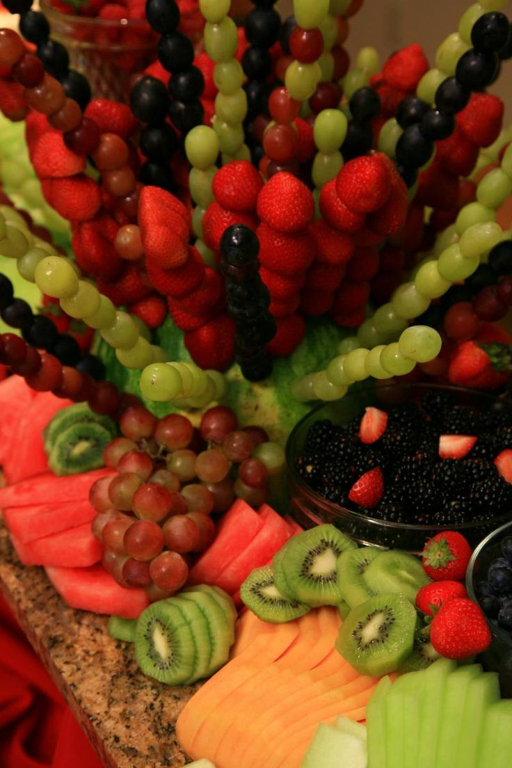 fruit skewers...great for a party but staying to the healthy side