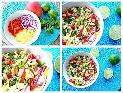 mango slaw with cashews and mint | Food | Pinterest