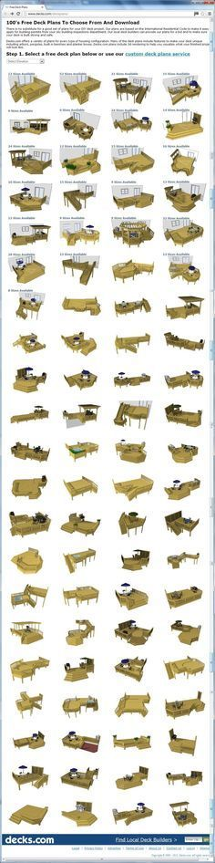 awesome web resource! 100's of free deck plans you can choose from and download at http://www.decks.com/deckplans/, or use their custom deck plans services: