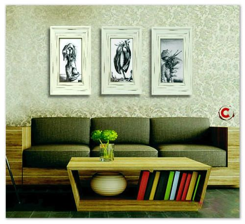 Buy UNBANNED, UNSEEN & UNCUT [VNS] : Ras Steyn - Original Pencil Sketches (Triptych)for R2,200.00