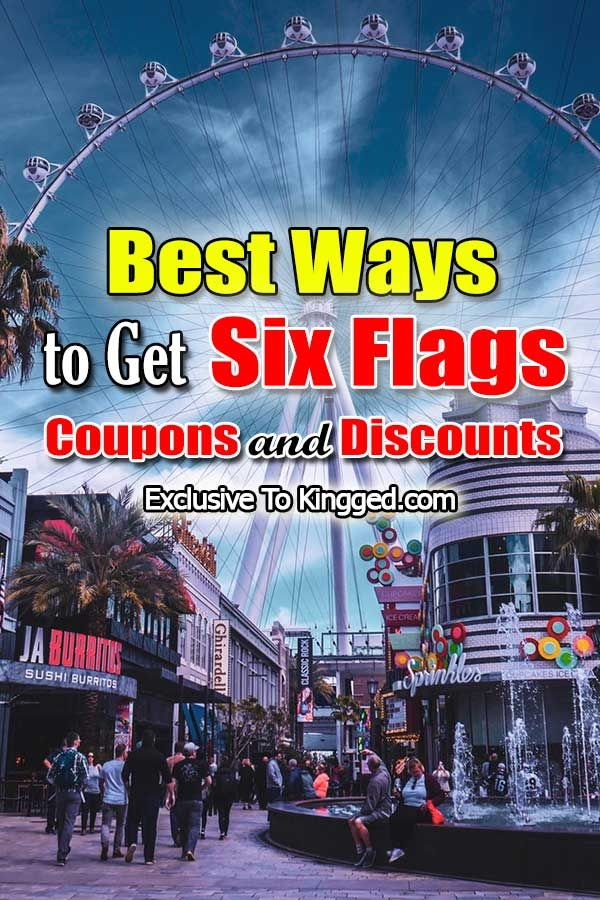 15 Best Ways To Get Six Flags Coupons And Discounts Six Flags Season Pass Discover Credit Card Six Flags