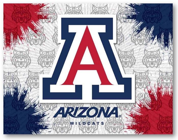 Arizona Wildcats D1 Printed Logo Canvas.  Visit SportsFansPlus.com for Details.