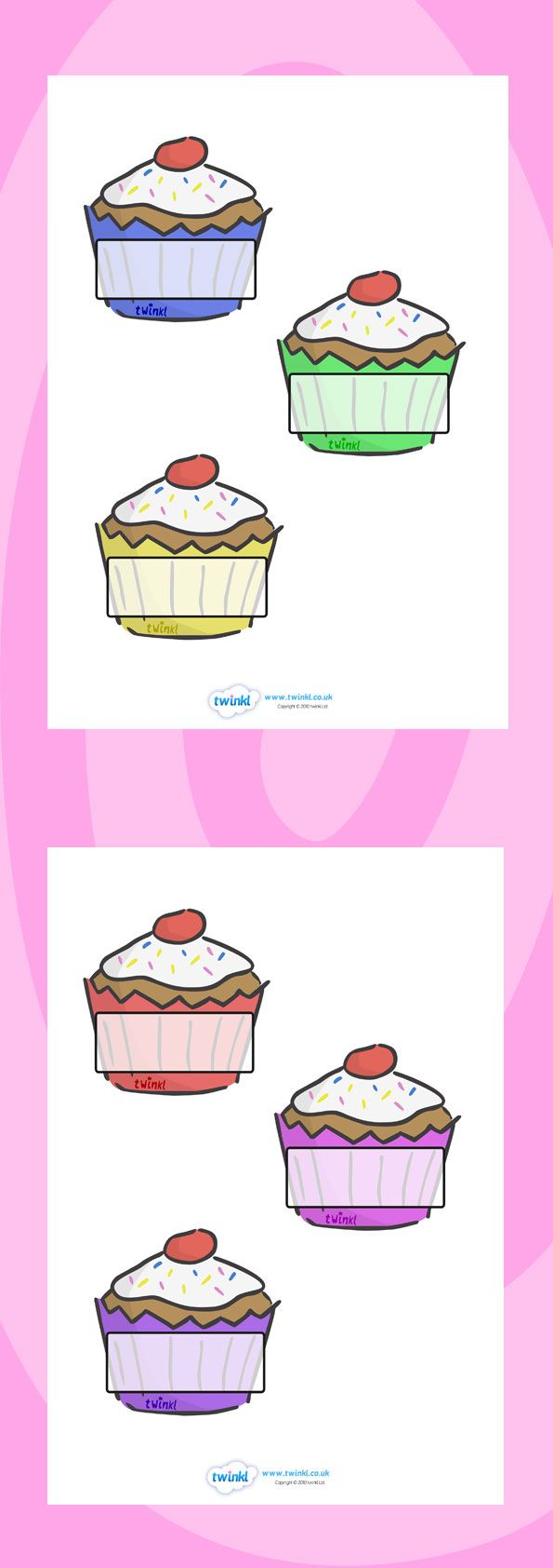 Twinkl Resources >> Editable Self Registration Labels (Cupcakes)   >> Thousands of printable primary teaching resources for EYFS, KS1, KS2 and beyond! self registration, register, editable, labels, registration, child name label, printable labels, cupcakes, baking, cake,