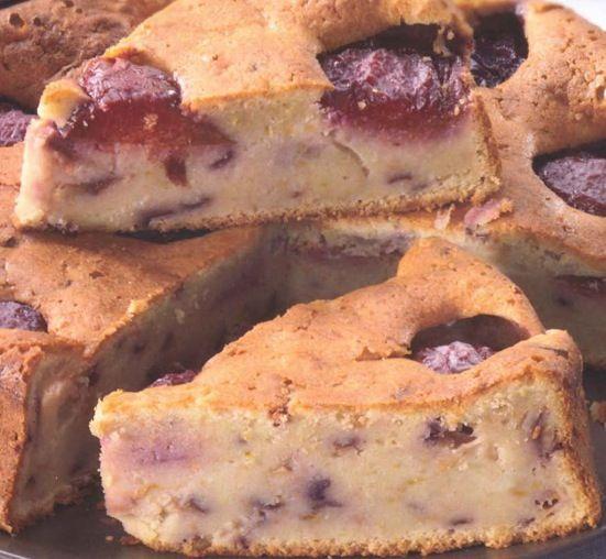 ⇒ Bimby, le nostre Ricette - Bimby, Torta di Farro con Mandorle e Prugne