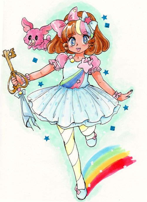 """kawaiibunny3: Magical Girl Inspired by the fashion over at the store """"Pinkly Ever After"""" (this dressin particular) They've got some cute stuff for sale"""
