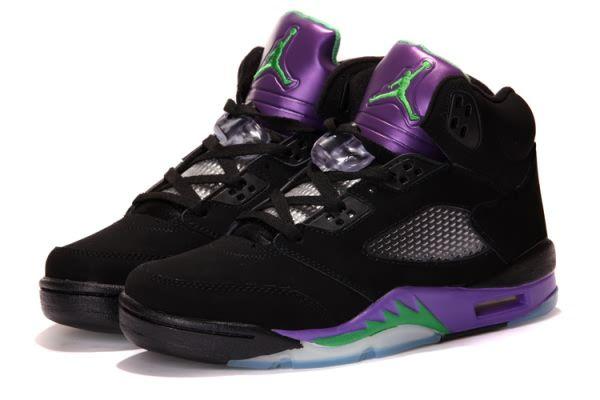 Air Jordan 5 V Retro A Black/Purple Men's shoes