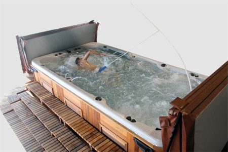 70 best images about jacuzzi spa on pinterest for Saltwater endless pool