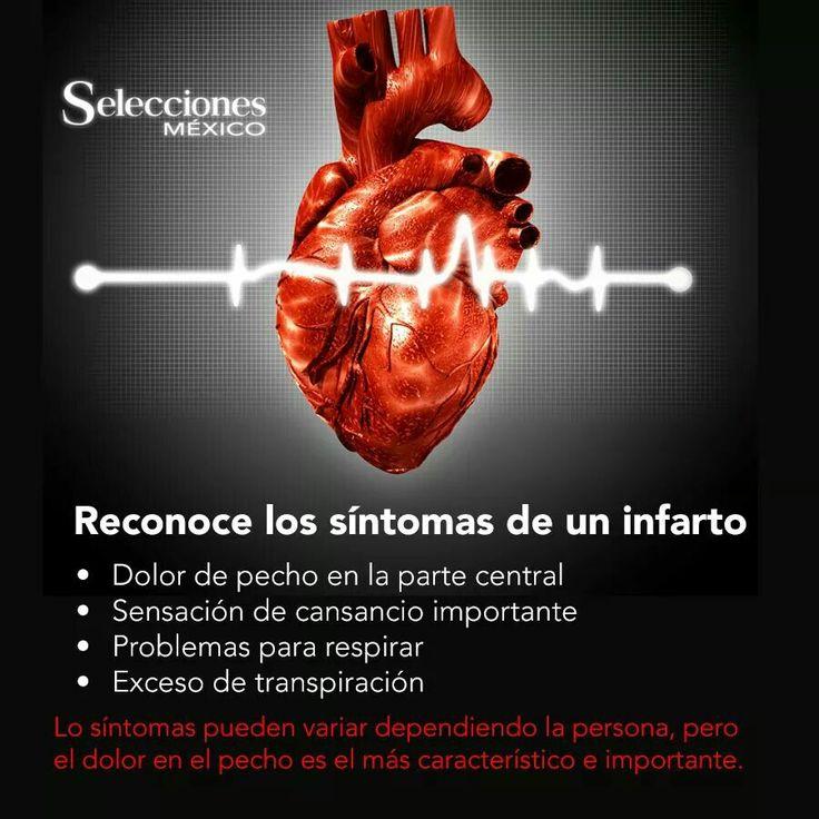 Reconoce los sintomas de infarto