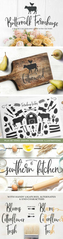 LOVE this farmhouse script font