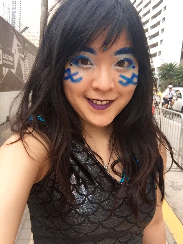Ultra Music Festival outfit/makeup - day 3