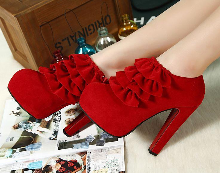 Женская обувь осень и зима черные туфли на высоком каблуке свадебные туфли на платформе свадебная обувь