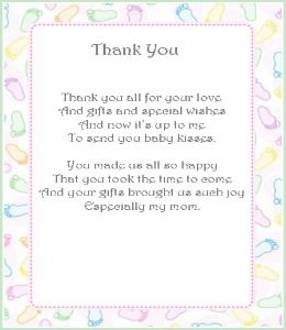 thank you poems thank you cards baby shower thank you shower baby baby