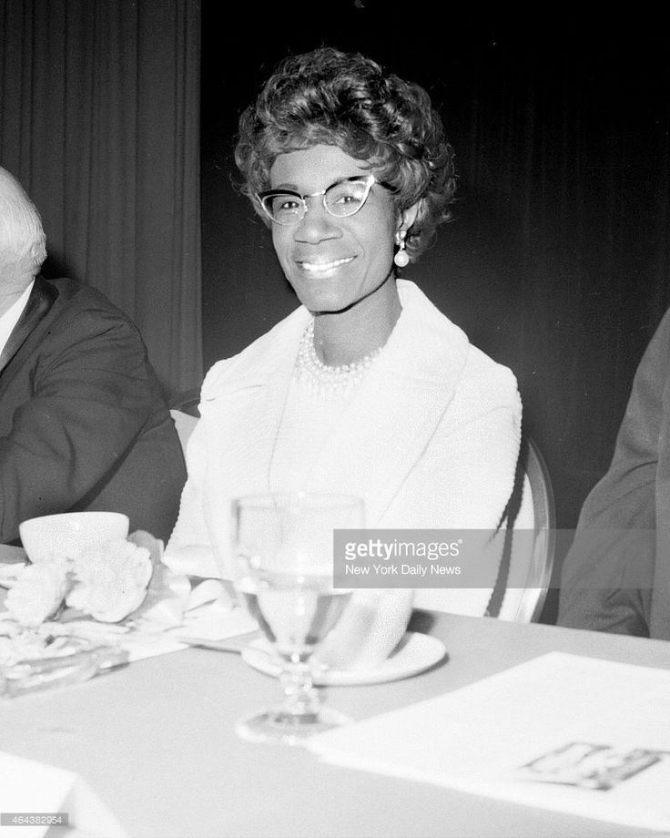 rep shirley chisholm at fund raising dinner for the ymca at new york hilton hotel