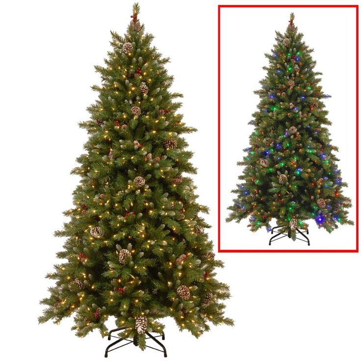 9 Ft Powerconnect Snowy Berry Artificial Christmas Tree