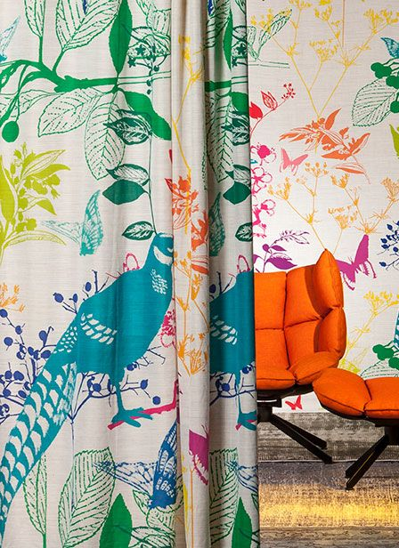 Impression.Vrolijke gordijnen met veel kleur. #interieur #raambekleding #gordijnen #natuur #kleur #vrolijk