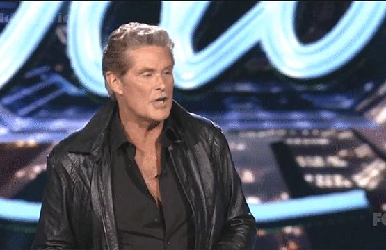 As 80s legends go, David Hasselhoff must surely rank up there among them (well sort of, anyway).  So it was understandable that when American Idol presented its 80s-themed live show earlier this week that they might want to get the man himself along to join in the fun.