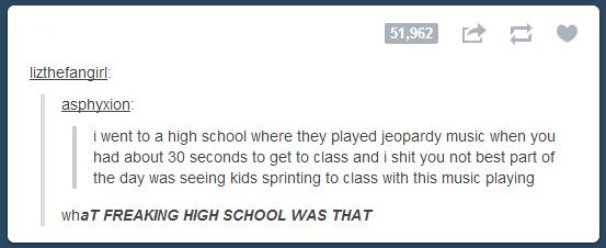 16 Perfect Snapshots Of The American Schooling System.... Jeopardy on the sound system!