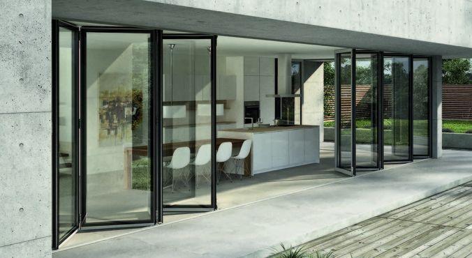 Materiales ventanas componentes y detalles carpinter a - Puertas de aluminio con cristal ...