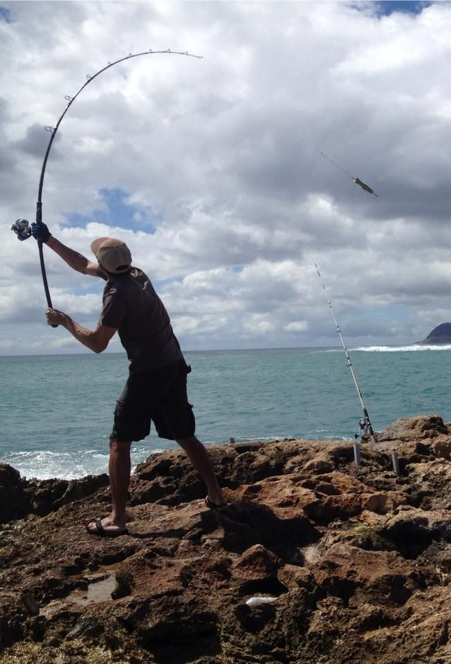 GT Fight Club, Hawaii - 3pc power casting a 160g popper.