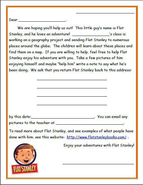 20 best Flat Stanley images on Pinterest Flat stanley template - address change template