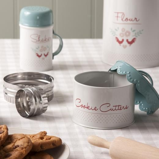 Gisela Graham Enamelware Cookie Cutter Set in Tin - £15.00 - A great range of Cooking And Baking gifts and homewares from The Contemporary Home Online Shop