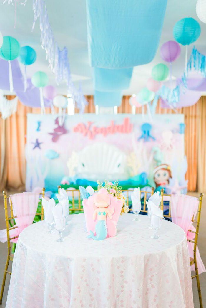 Pastel Under The Sea Party Pastel Birthday Mermaid Party