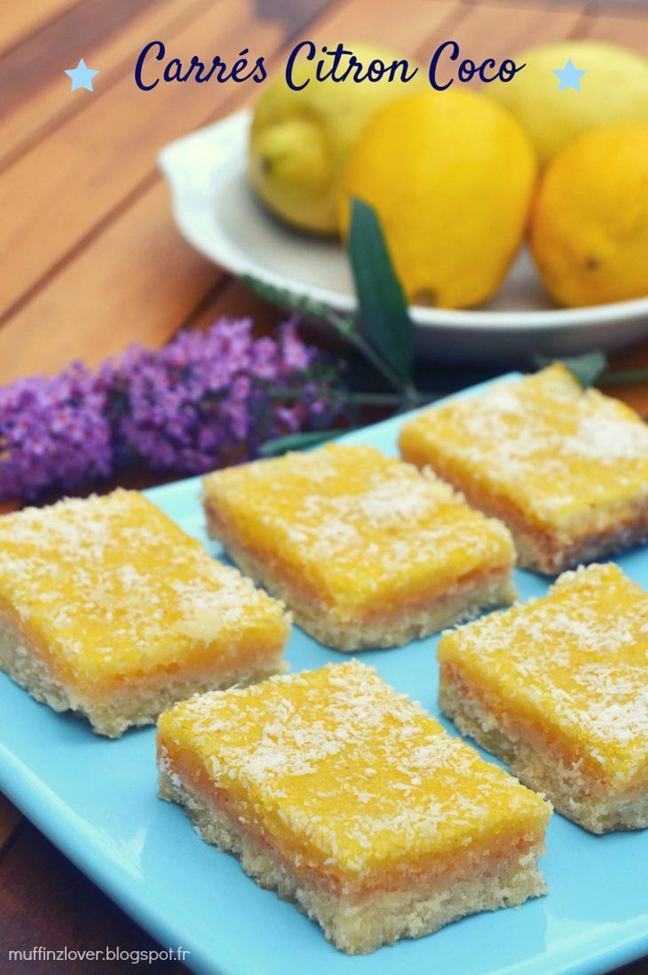 Recette carrés citron coco - muffinzlover.blogspot.fr