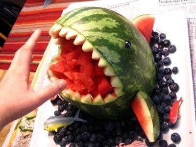 Watermelon Shark: Watermelon Sharks, Fruit Salad, Tailgating Food, Birthday Parties, Funny Humor, Summer Parties, Sharks Watermelon, Sharks Week, Summer Birthday