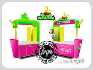 Desain Logo | Logo Kuliner |  Desain Gerobak | Jasa Desain dan Produksi Gerobak | Branding: Desain Gerobak Cool Maniacz