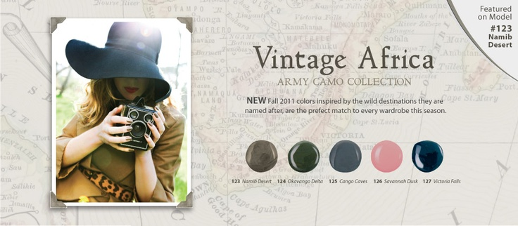 THE VINTAGE AFRICA COLLECTION  inspired by wild the destinations of the continent.