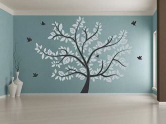 New Wandtattoo gro er Baum
